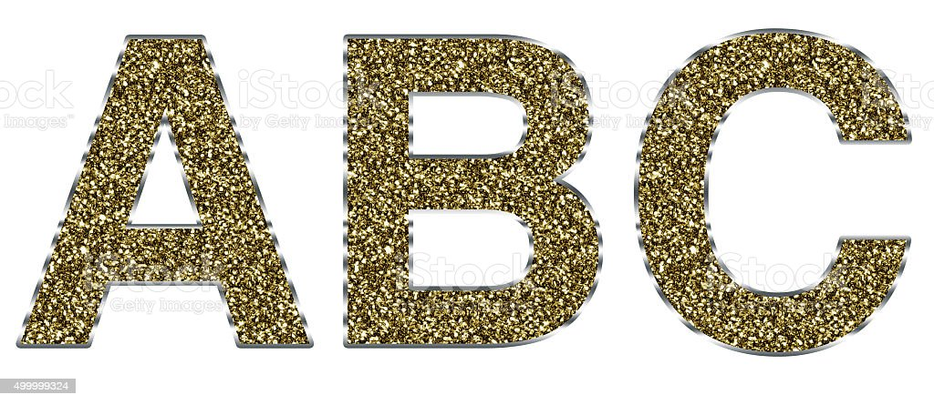 8b3ff59b3dc3f Capital Abc Letters Made Of Gold And Silver Frame Stock Photo   More ...