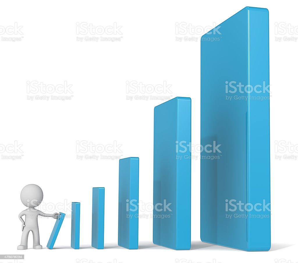 Capital appreciation. stock photo