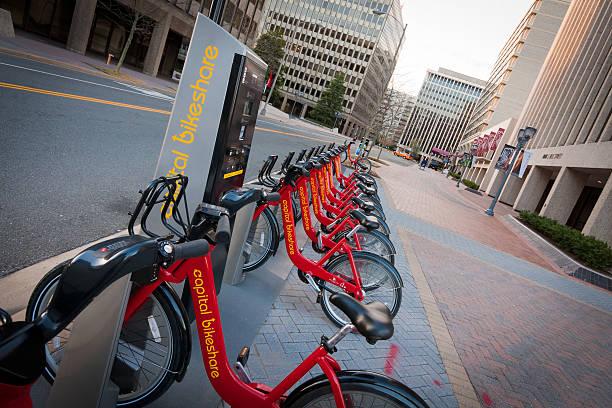 Capital Bikeshare in Crystal City stock photo