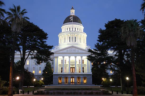 Capital Building At Night stock photo