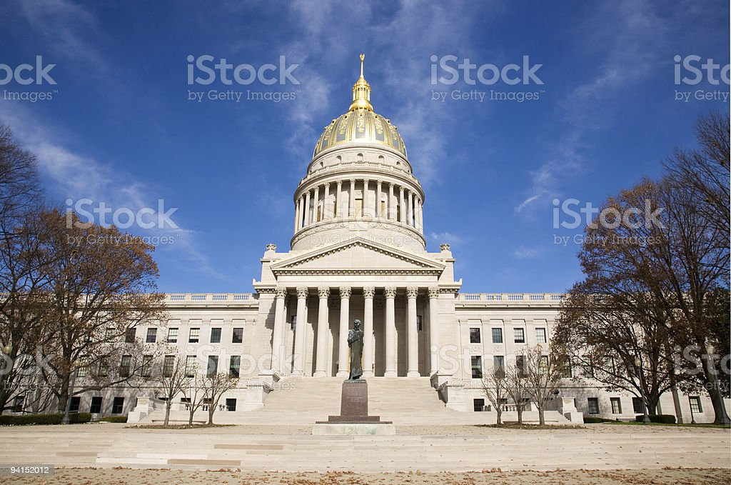 Capital Building in Charleston West Virginia royalty-free stock photo