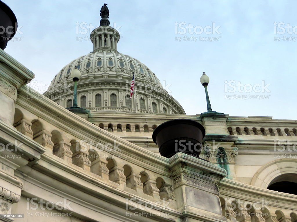 U.S. Capital Building Up Close stock photo
