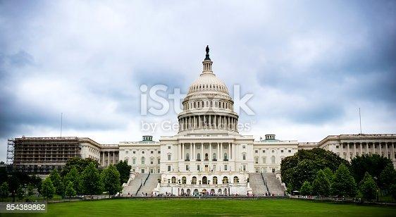 Cloudy sky at Capitol Building, Washington DC