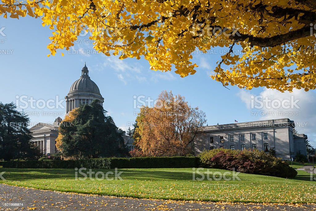 Capital buildings at Olympia, Washington stock photo