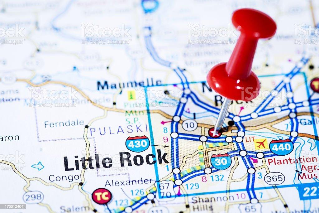 Ushauptstadt Auf Karte Serie Little Rock Arkansas Ar ...
