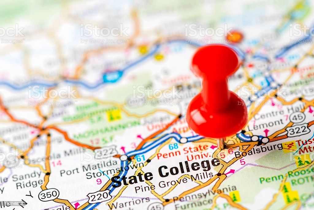 Picture of: Us Capital Cities On Map Series State College Pa Stock Photo Download Image Now Istock