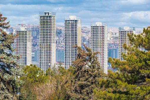 Capital City Ankara View in Sunny Winter Day