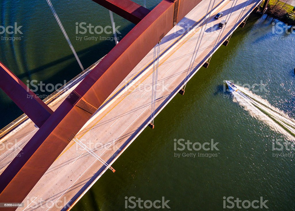 Capital City Boating Pennybacker Bridge Style stock photo