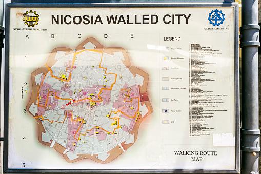 La carte de Nicosie