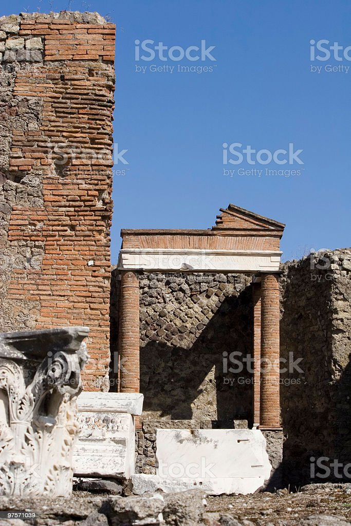 Capital column and wall royalty-free stock photo