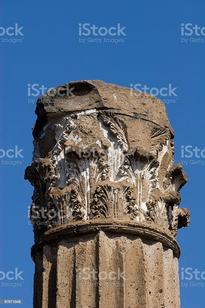 Capital column in sky royalty-free stock photo