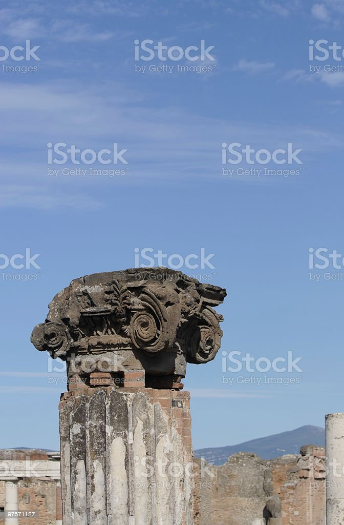 Capital column in sky royalty-free stock photo