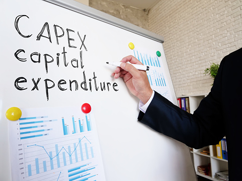 CAPEX capital expenditure written by a financial advisor.