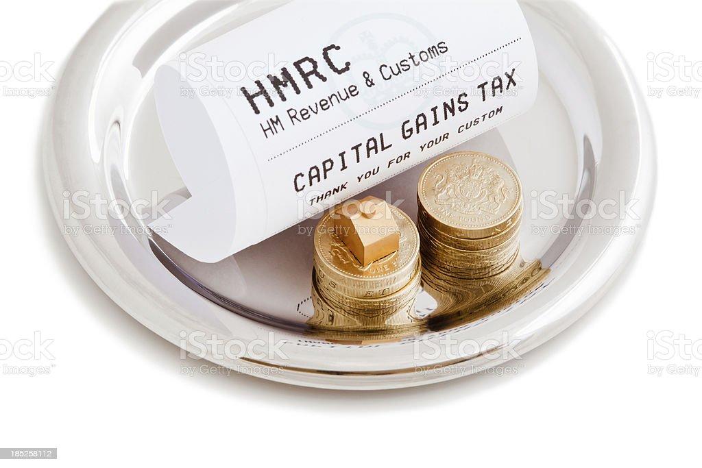 Capital Gains Tax stock photo
