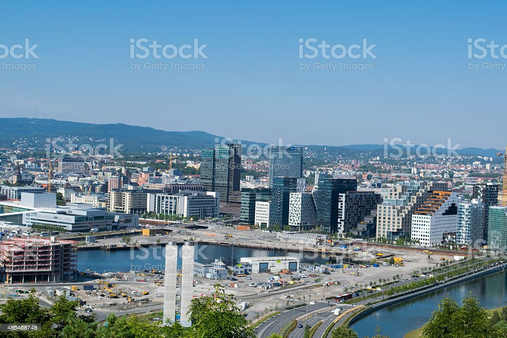 Capital in Norway, Oslo. stock photo