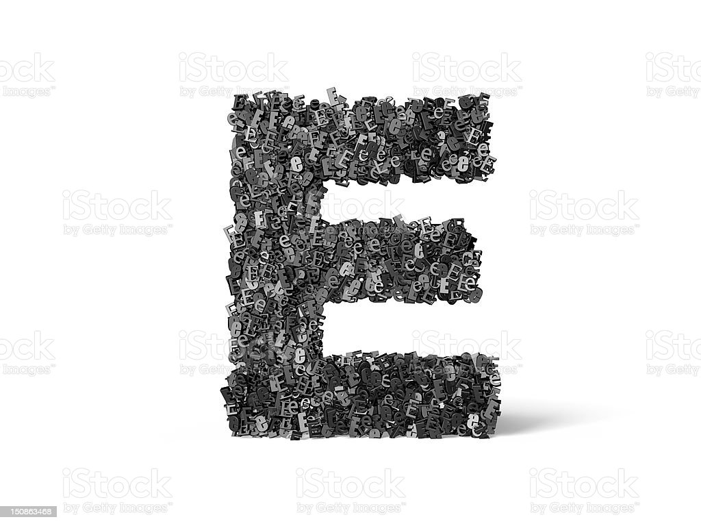 Capital Letter E - Built from E's royalty-free stock photo
