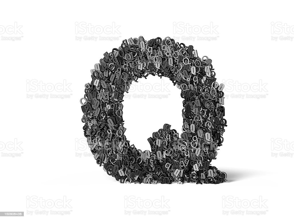 Capital Letter Q - Built from Q's royalty-free stock photo