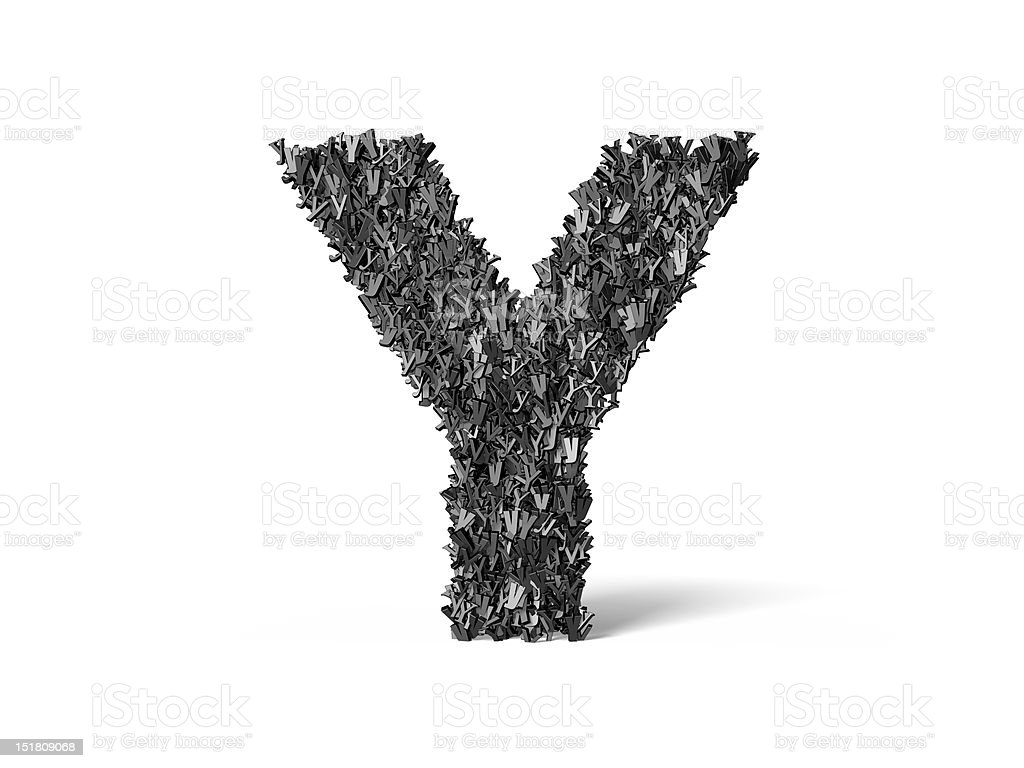 Capital Letter Y - Built from Y's royalty-free stock photo