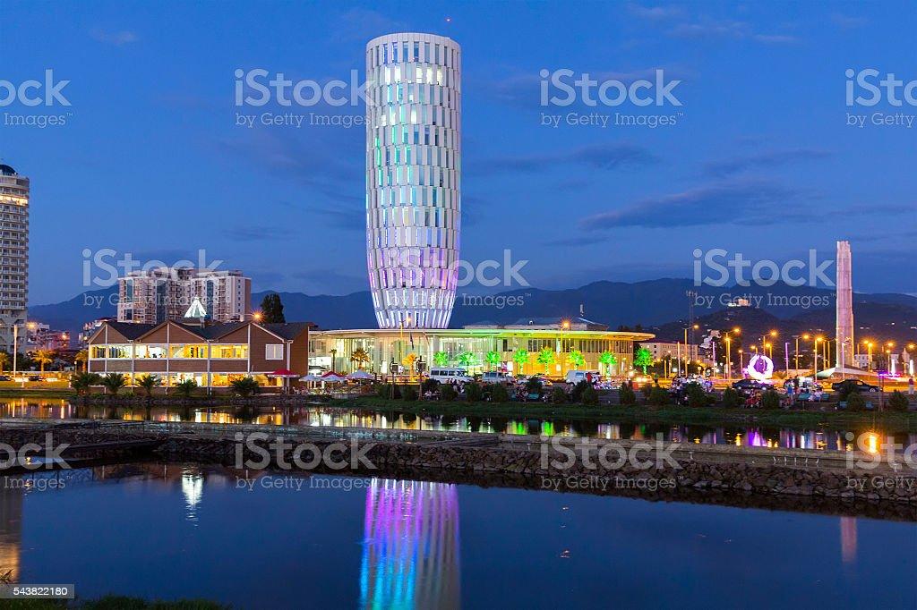Capital of Adjara - Batumi in the evening stock photo