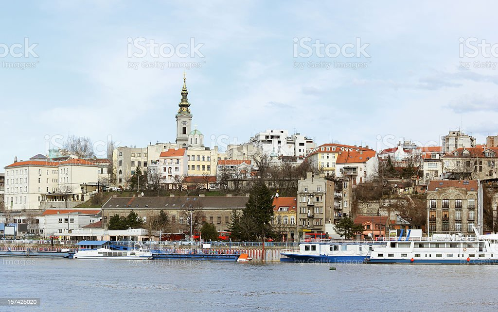 Capital of Belgrade stock photo