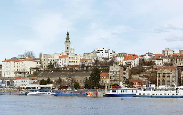 Capital of Belgrade stock photo