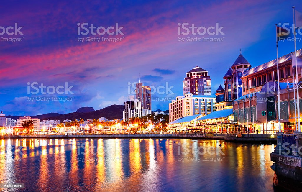 Capital of Mauritius Port Louis stock photo