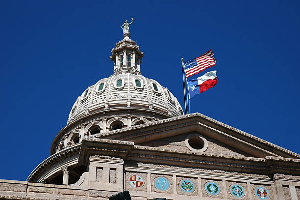 Capital of Texas Capitolio in Austin, Texas capital cities stock pictures, royalty-free photos & images