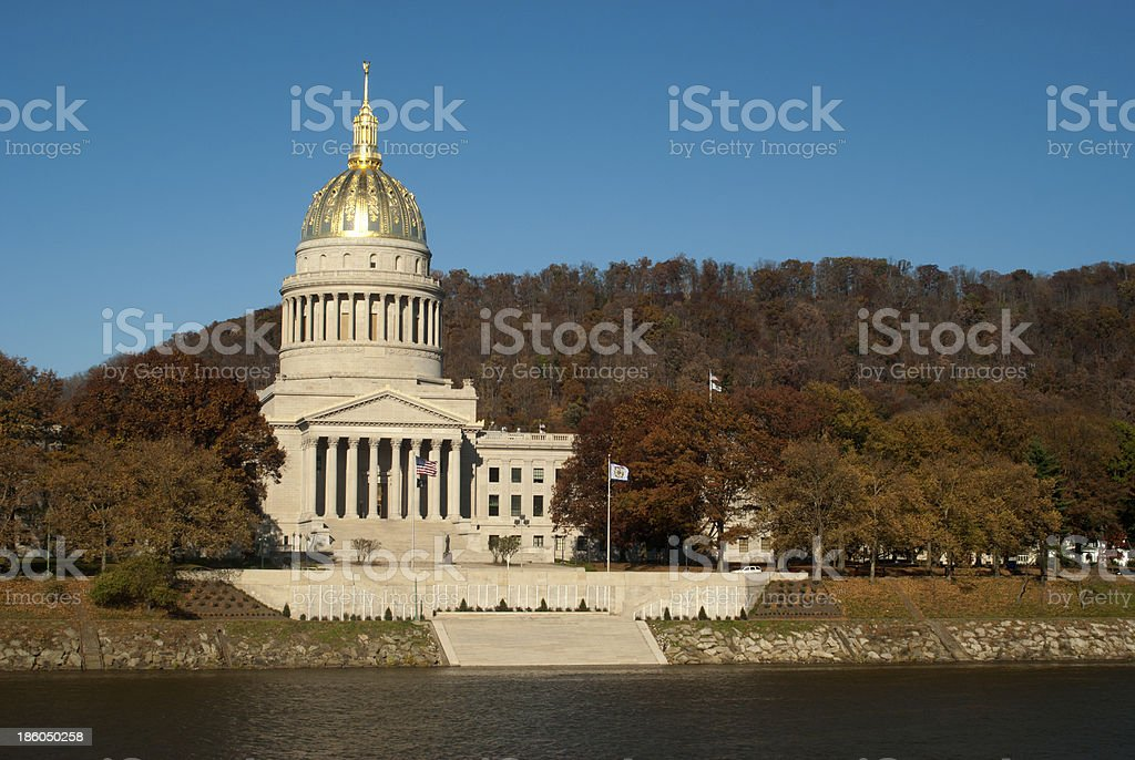 Capital of West Virginia in Charleston on the Kanawha River. stock photo