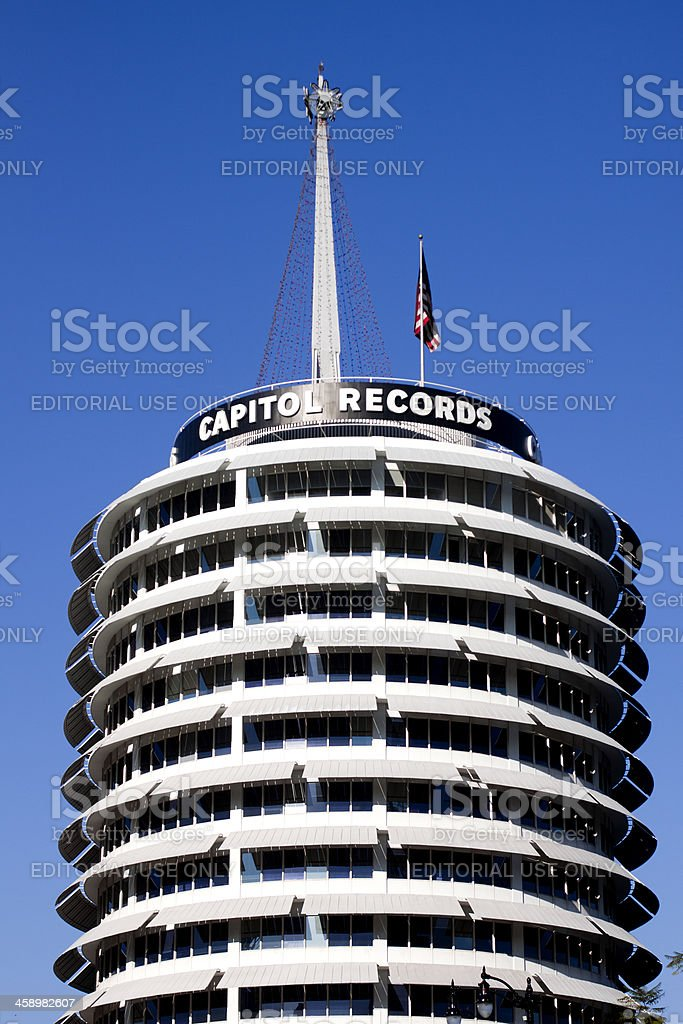 Capital Records Building royalty-free stock photo