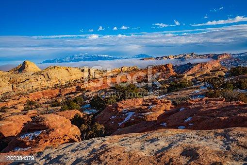 Navajo Knobs Trail, Capital Reef National Park, Utah, USA