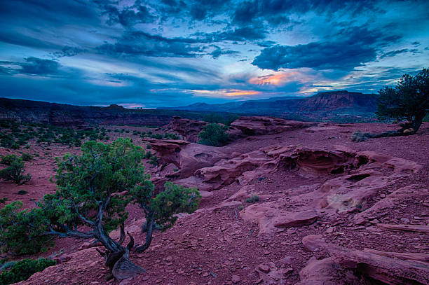 Capital Reef National Park during a storm stock photo