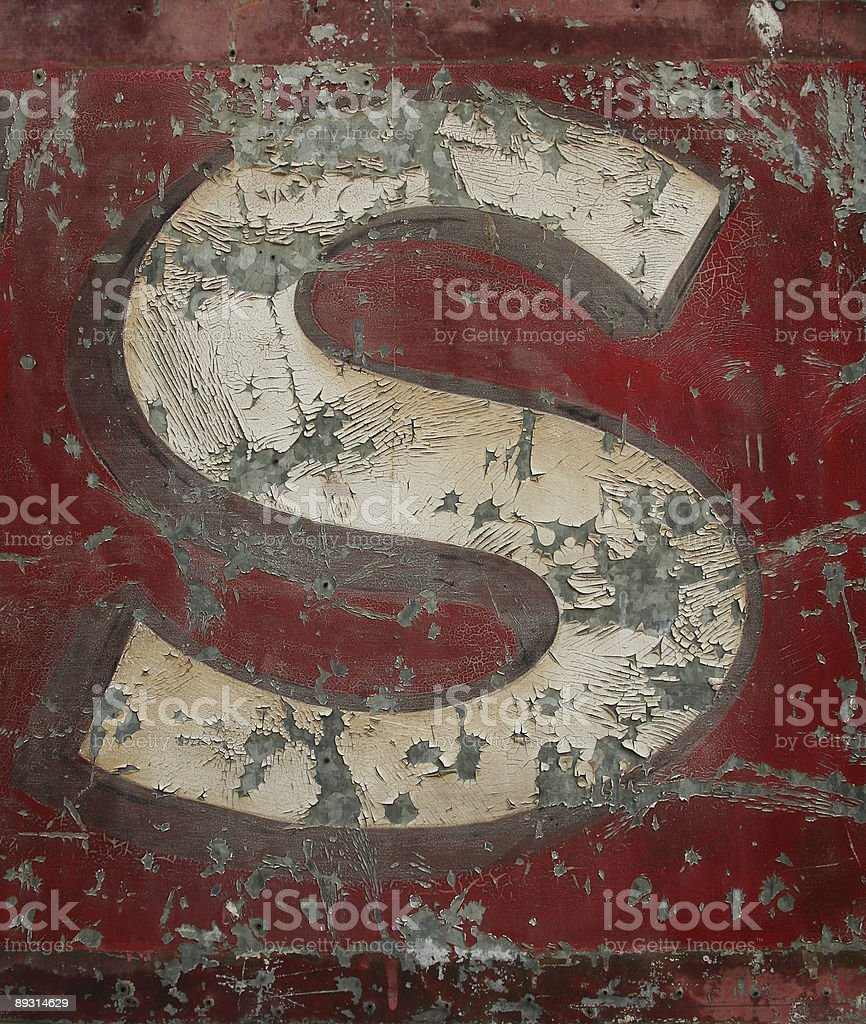 Capital S stock photo