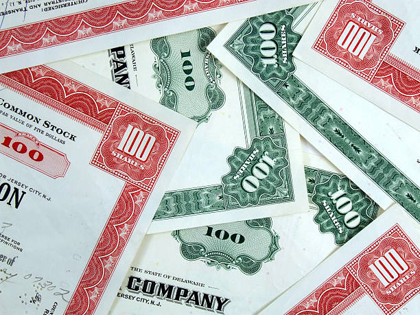 Capital stock certificates  debenture stock pictures, royalty-free photos & images