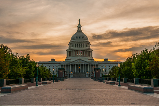 Capital Sunset Stock Photo - Download Image Now