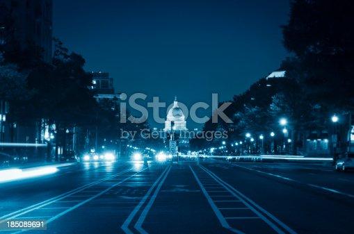 istock US Capitol and street light in Washington DC 185089691