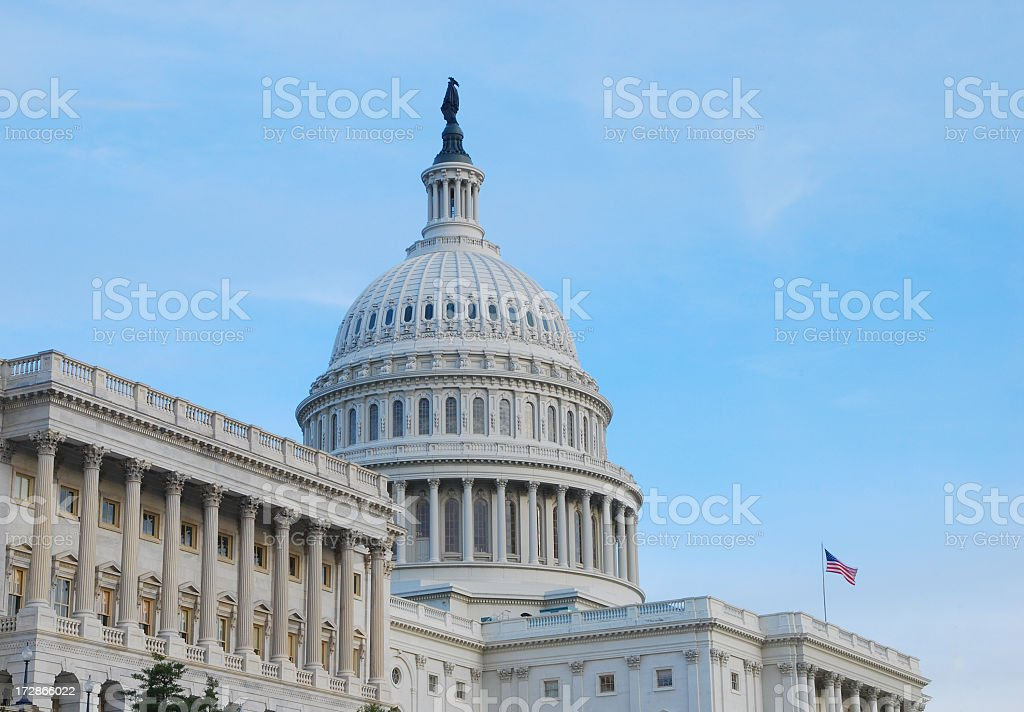U.S. Capitol at dusk royalty-free stock photo