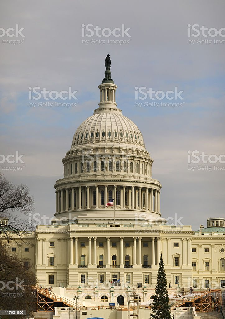 Capitol at Sunset stock photo