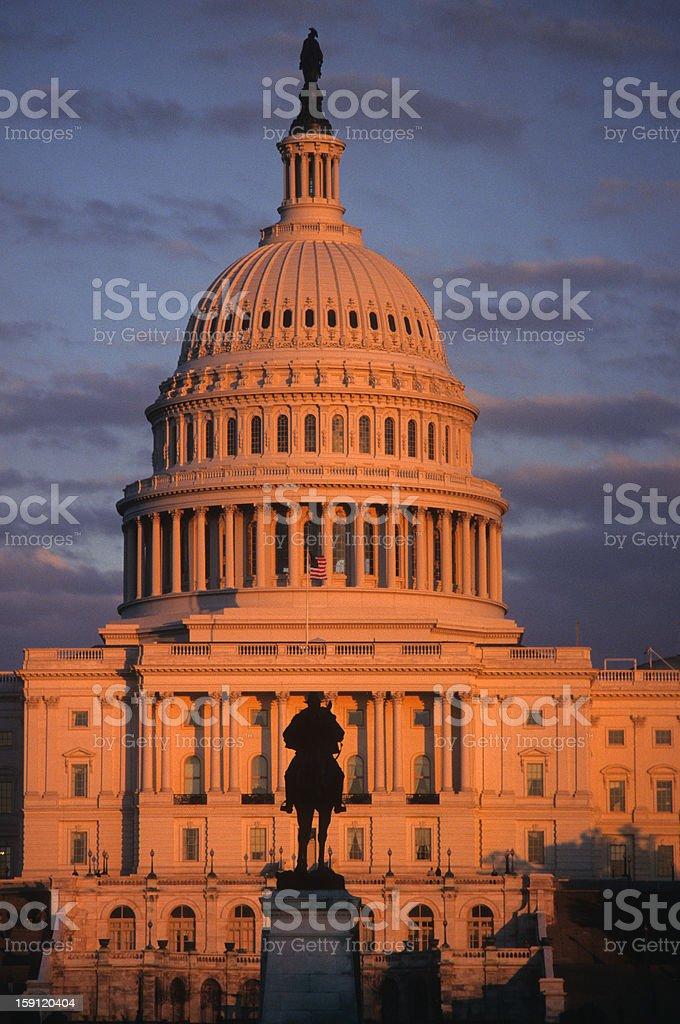 U.S. Capitol at sunset royalty-free stock photo