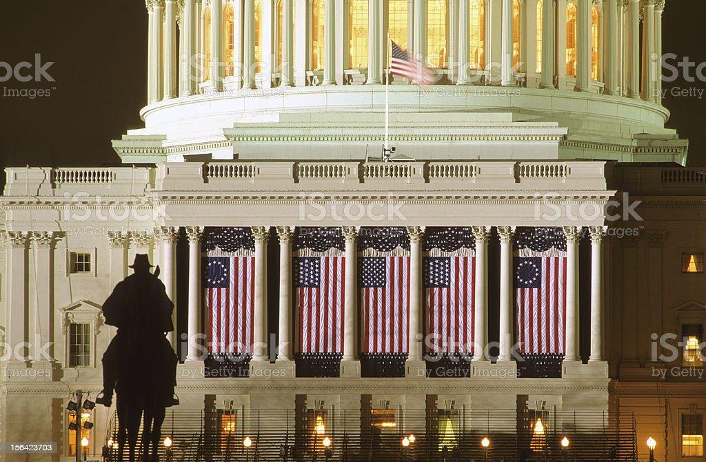 U.S Capitol before Inauguration Ceremonies stock photo