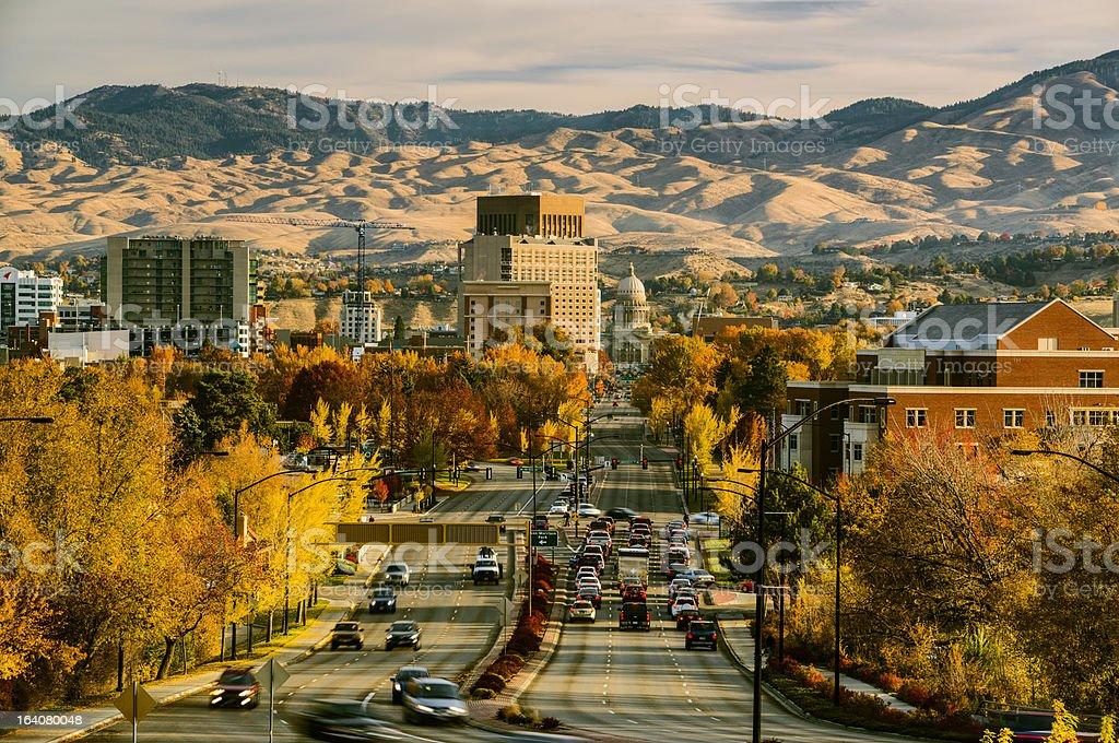 Capitol Blvd, Boise, Idaho stock photo