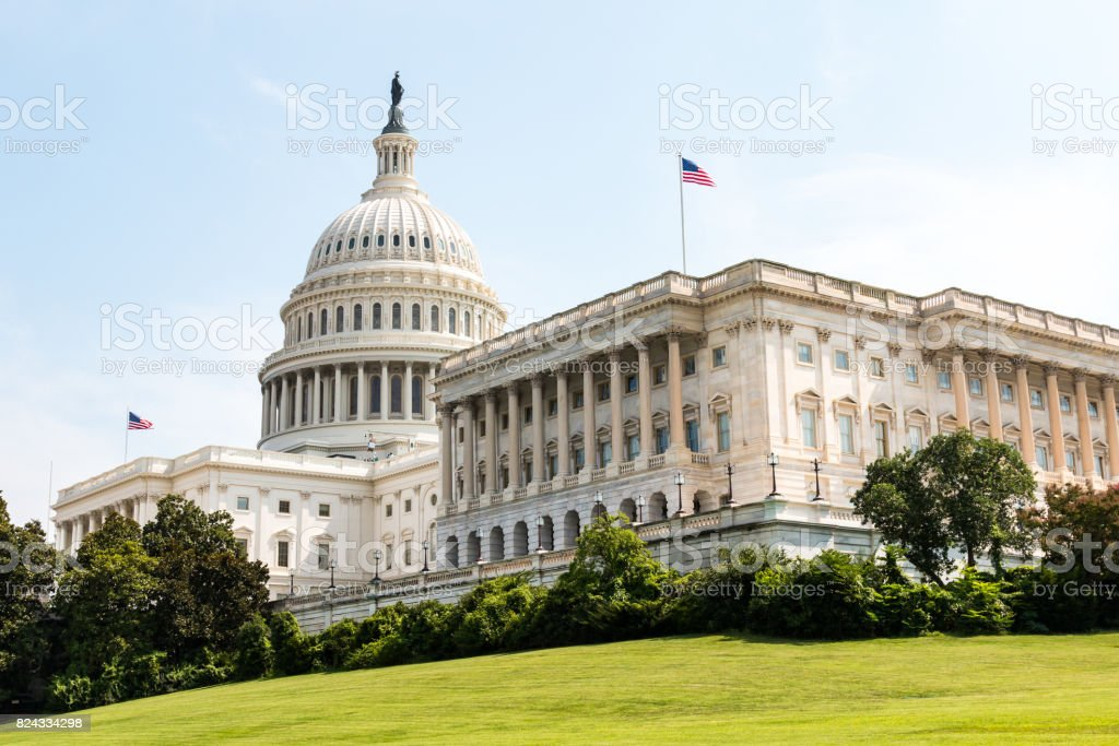US Capitol Building and Home of Congress in Washington, DC stock photo