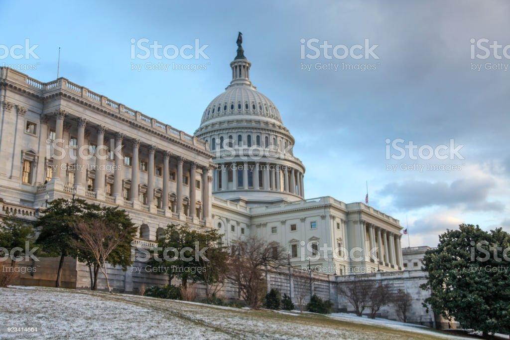 U.S. Capitol Building and Senate Wing in Washington, DC stock photo