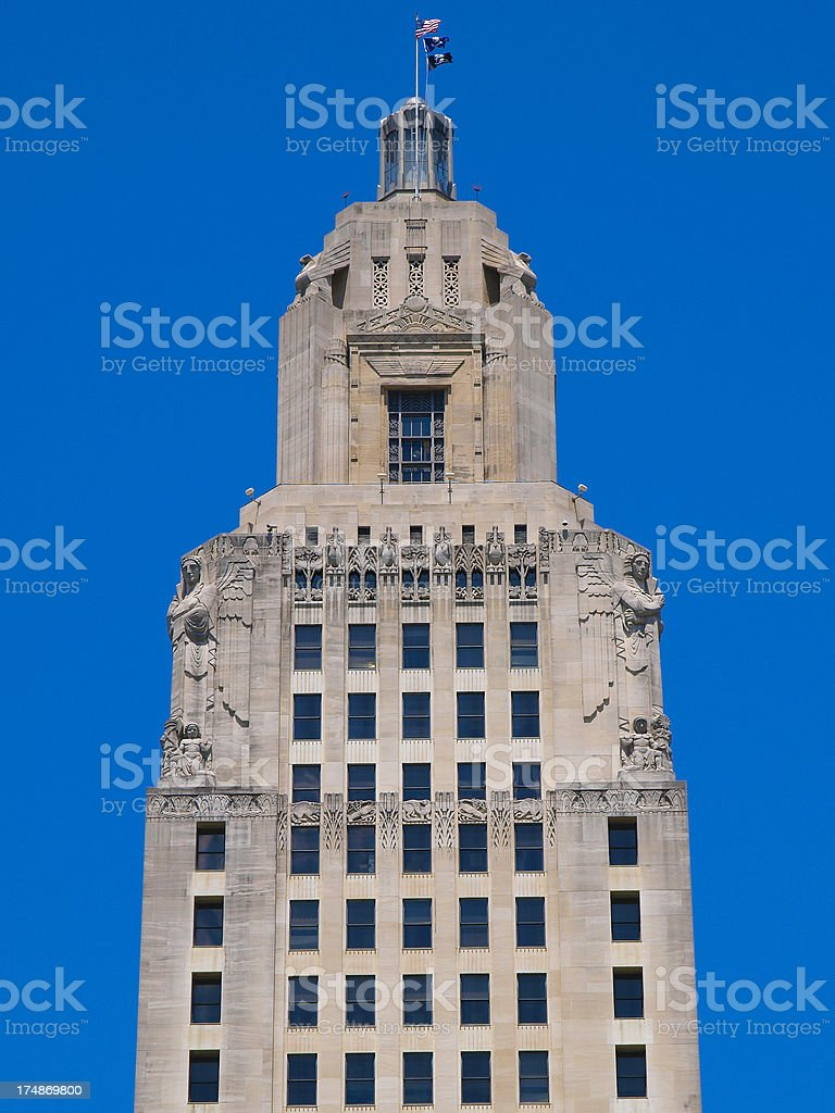 Capitol Building, Baton Rouge royalty-free stock photo