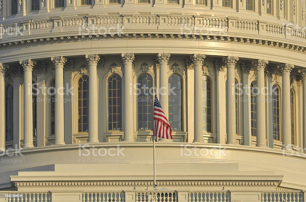 Capitol Building dome detail in Washington DC United States royalty-free stock photo