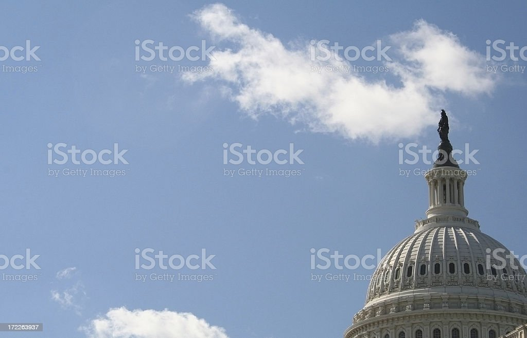 US Capitol Building Dome royalty-free stock photo