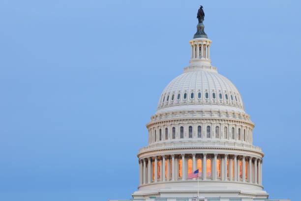 Capitol Building - Dome - Washington DC stock photo