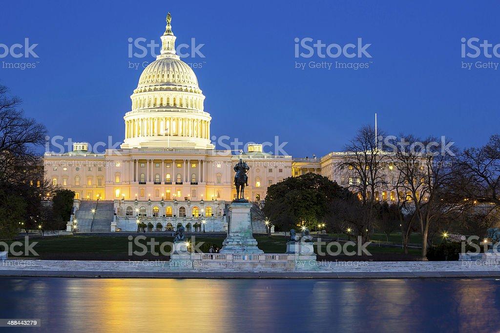 US Capitol Building dusk stock photo