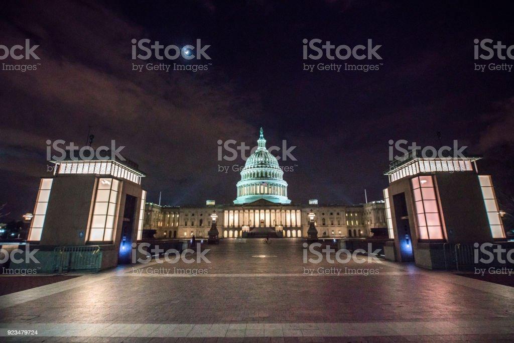 U.S. Capitol Building East Facade in Washington, DC stock photo