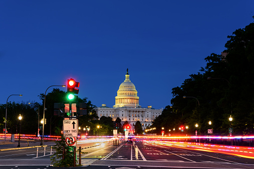 istock Capitol Building from Pennsylvania Avenue, Long exposure, Washington DC 1154727069