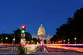 Capitol Building from Pennsylvania Avenue, Long exposure, Washington DC